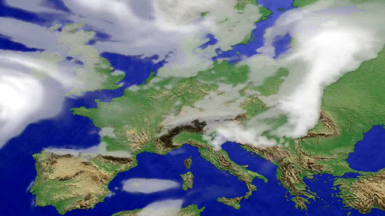 Cloud forecast Europe 2016-07-29