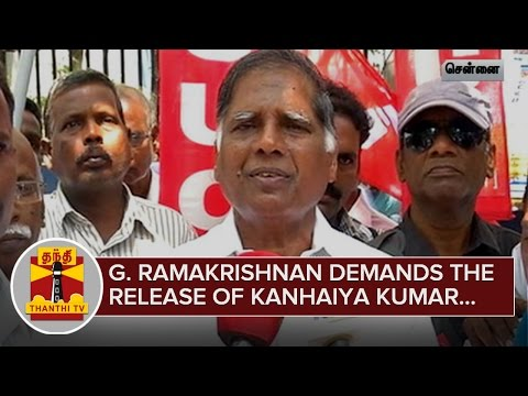 JNU-Row--G-Ramakrishnan-demands-the-Release-of-Kanhaiya-Kumar-24-02-2016