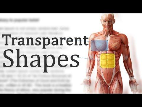 Words Transparent Transparent Shapes in Word