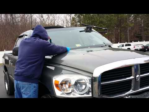 DODGE 1500 Windshield Replacement With Lil Buddy