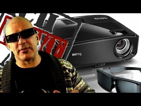 BenQ MS517 DLP 3D Projektor/Beamer +Brille+Leinwand (Unboxing/Review)