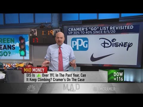Cramer opines on Disney, Nike, Union Pacific and more recovery stocks