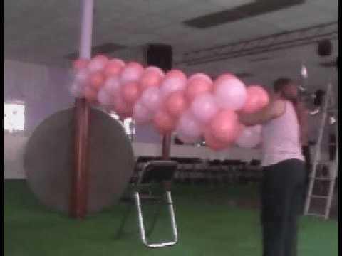 decoracion con globos (arco de entrada)