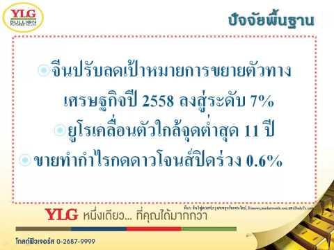 YLG บทวิเคราะห์ราคาทองคำประจำวัน 05-03-15