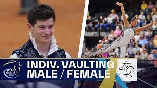 Kristina Boe and Lambert Leclezio lead the Vaulting rankings! | FEI World Equestrian Games 2018