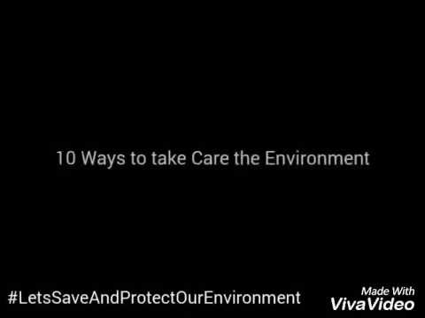 10 Ways to take Care the Environment