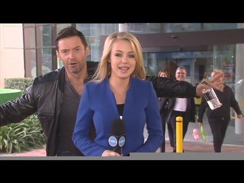 Viral Video:  Hugh Jackman Video Bombs News Reporter