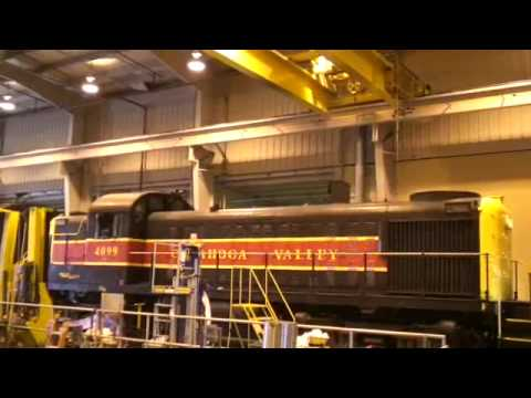 ALCO - A 57 year old diesel locomotive comes to life after a multi-head change-out and liner/head re-lap. The unit originally was Delaware &Hudson (USA) 4099. The F...