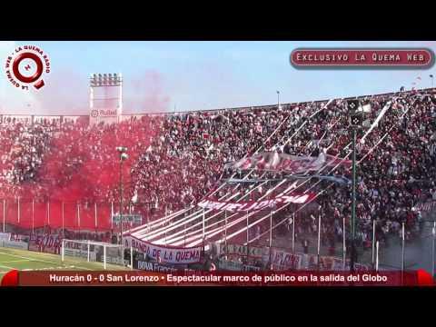 Clasico Huracan vs San Lorenzo - Espectacular recibimiento para el Globo - www.laquemaweb.com.ar - La Banda de la Quema - Huracán