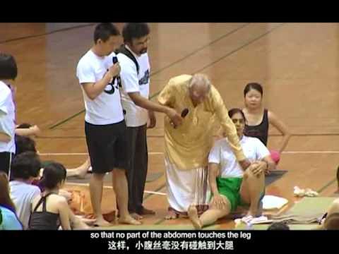 2011 China-India Yoga Summit – Asana Review in the afternoon (Yoga, B.K.S. Iyengar)