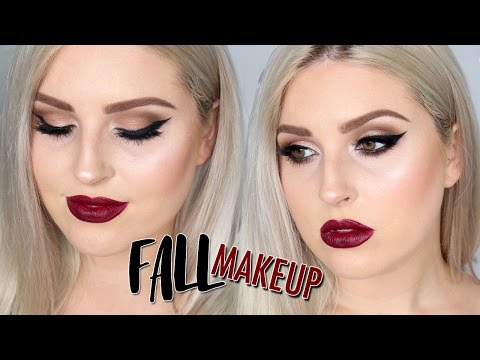 Deep Berry Lips & Smokey Eyes! Fall Makeup Tutorial!