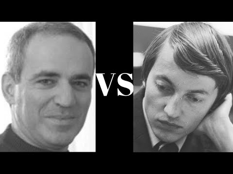 Queens Gambit Declined: Garry Kasparov vs Anatoly Karpov – Blitz 5 minute chess Game 5 of 8 – QGD