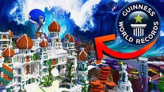 Tsunami Destroys ATLANTIS Minecraft WORLD RECORD BUILD!