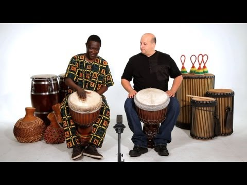 How to Play a Bass Sound on Djembe | African Drums