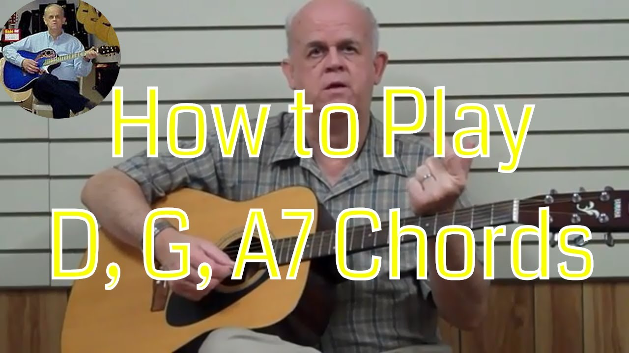 Guitar Chords for Beginners #7 – Chord Families D-G-A7 – Guitar Lesson Tutorials