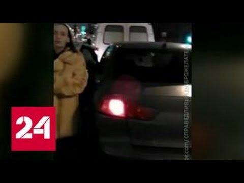 Автоледи протаранила карету скорой помощи и пыталась скрыться