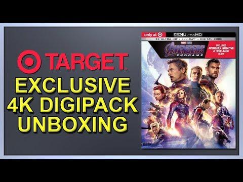 Avengers: Endgame Target Exclusive 4K+2D Blu-ray Digipack Unboxing