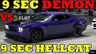 950 HP DEMON vs 1000 HP HELLCAT - 1/4 mile Drag Race - Road Test TV by Road Test TV
