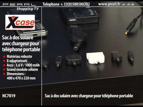 SAC À DOS SOLAIRE AVEC CHARGEUR POUR TÉLÉPHONE PORTABLE
