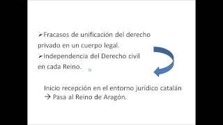 Umh1191 2013-14 Lec006 Recepción Del Derecho Romano En El Derecho Histórico Valenciano