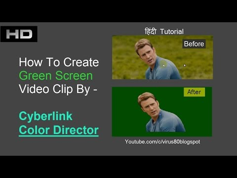 How to Convert Normal Video to Green Screen video in color director | हिंदी