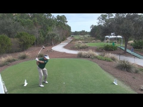 GOLF SWING 2012 – KENNY PERRY DRIVER – ELEVATED DOWN THE LINE & SLOW MOTION – HQ 1080p HD