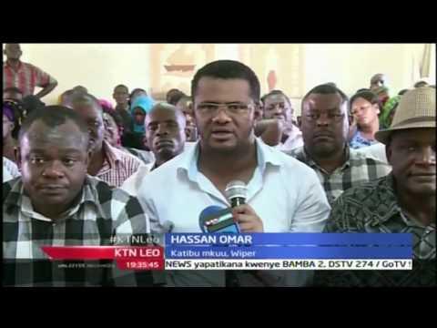 KTN Leo: Wiper wapanga kupeleka  kampeni Mombasa, 26/9/2016