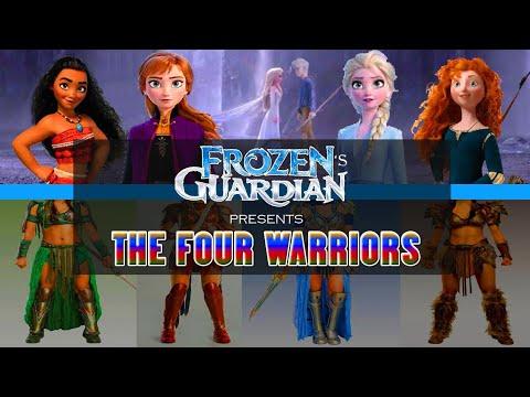 Elsa, Anna, Merida, Moana - Encantadia version - The Four Warriors -Amihan, Pirena, Danaya, Alena
