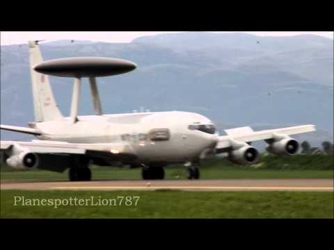 A Boeing E-3 Sentry AWACS from...