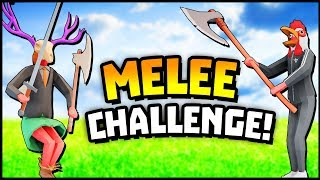 Totally Accurate Battlegrounds - MELEE ONLY CHALLENGE! Squad Gameplay - TABG (TABS New Fortnite!)