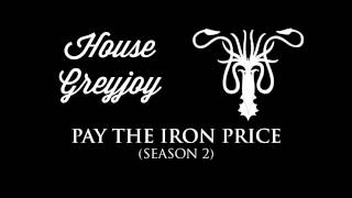 The House Greyjoy theme that often plays in the soundtrack when they're on screen, or when a plot-point involving them is taking place.Check out the playlist for more themes, including an awesome hour-long compilation of all of them! Just press play, sit back & enjoy.Music composed by: Ramin DjawadiFont: Wisdom Script by James T. Edmondson
