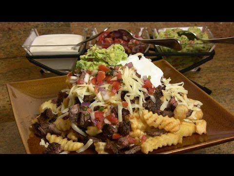 Super Bowl Recipe: Carne Asada Fries Recipes |Cooking With Carolyn|