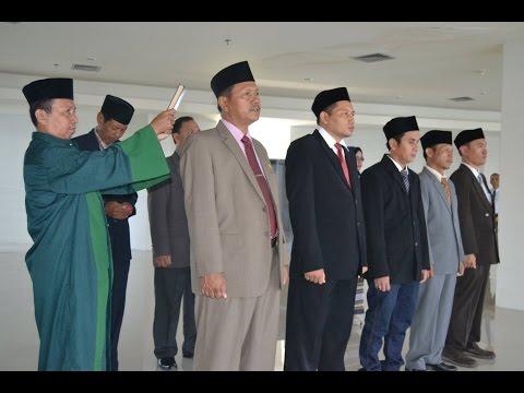 Dok Humas Untad, Rektor Untad, Prof Dr Ir Muh Basir Cyio SE MS menyampaikan bahwa rotasi jabatan itu merupakan dinamika biasa dalam sebuah organisasi.mpg