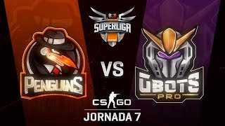 PENGUINS VS GBOTS - MAPA 1 - SUPERLIGA ORANGE - #SUPERLIGAORANGECSGO7