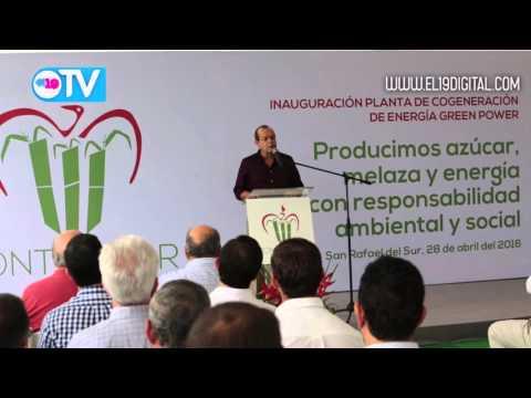 Inauguran moderna planta de energía renovable en el Ingenio Montelimar