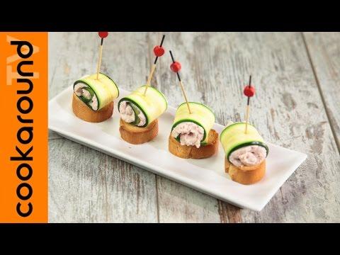 involtini di zucchine con crema di prosciutto cotto - ricetta
