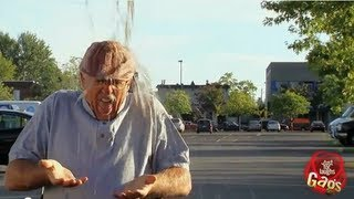 Porta Potty Empties On Old Man!