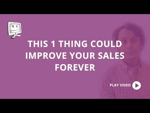 This ONE thing will improve your sales forever
