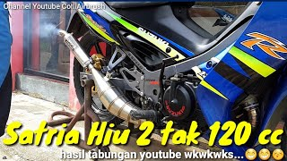 Video Review Cat Satria Hiu 2 tak 120 cc milik sendiri MP3, 3GP, MP4, WEBM, AVI, FLV Maret 2019