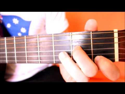 D Dur - Lekcja 3. Chwyty gitarowe d-moll i D-dur .Podstawy gry na gitarze.