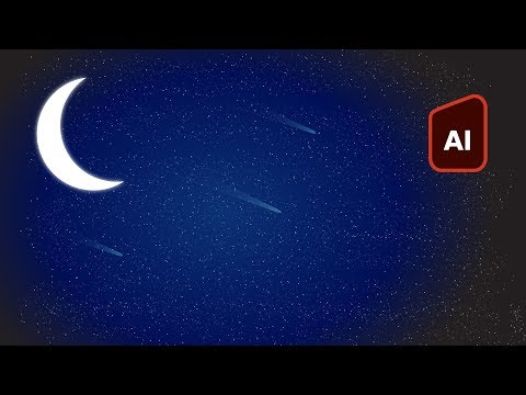 How To Draw A Night Sky Easily In Adobe Illustrator