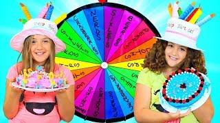 Video MYSTERY WHEEL OF CAKE CHALLENGE - TWINS BIRTHDAY!!! MP3, 3GP, MP4, WEBM, AVI, FLV November 2018