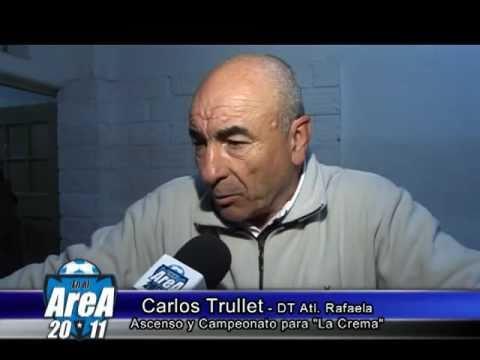 Carlos Trullet habla sobre su ascenso con Atlético de Rafaela