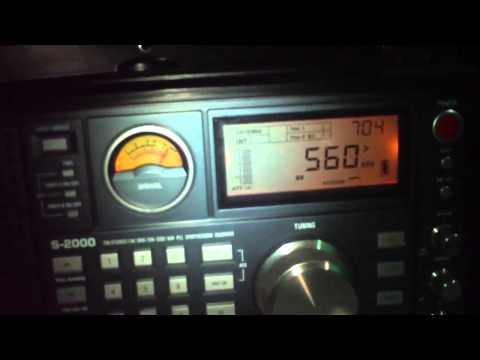 560 khz  Radio Difusora , Patrocínio , Minas Gerais , Brasil recebido a 992 KM