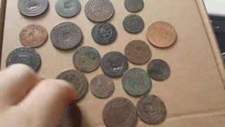 lote de moedas garimpo