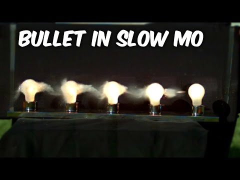 Watch a bullet destroy light bulbs in superslow