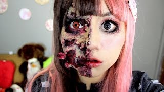 Video maquillaje Zombie ♥ Miku, muñeca zombie MP3, 3GP, MP4, WEBM, AVI, FLV November 2017