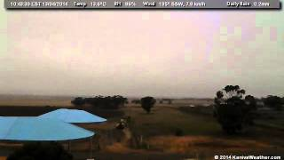 13 April 2014 - East Facing WeatherCam Timelapse - KanivaWeather.com