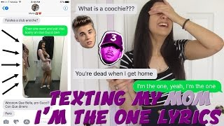 "Video TEXTING MY MOM ""I'M THE ONE"" JUSTIN BIEBER x CHANCE THE RAPPER LYRICS 