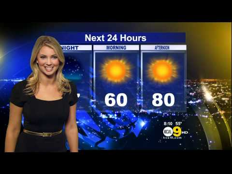 Evelyn Taft 2012/03/08 CBS2/KCAL9 HD: Black Dress